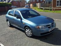 **** 2003 nissan almera 1.,5 sport only 33000 miles full service history 1 owner ****