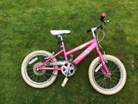 Girls pink Raleigh Krish bike