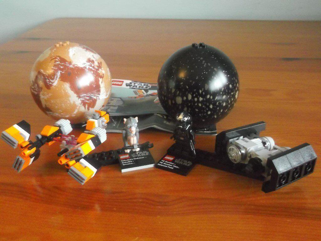 Lego Star Wars Planet Spheres Pod Racer 9675 Tie Bomber 75008 In