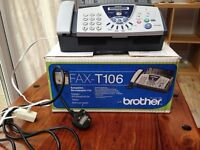 Brother Fax-T106 plain paper fax with answering machine