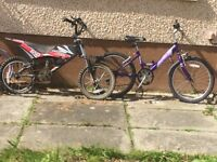Kids bikes for sale bargain at £15 each must go soon as need space
