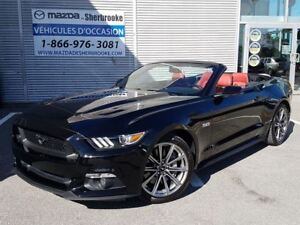 2015 Ford Mustang GT Premium v8 interieur cuir rouge