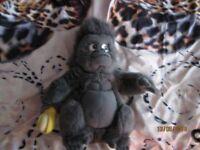 TERK THE GORILLA HOLDING BANANA FROM DISNEY TARZAN MOVIE CUTE FUR BACK PACK