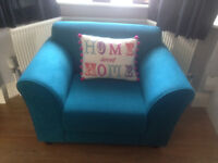 'SAGE' ARMCHAIR TEAL. SMOKE AND PET-FREE HOME. HARDLY USED.VG CONDITION. MOVING HOUSE. SELLING CHEAP
