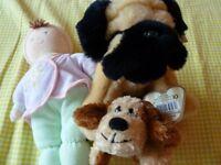 Russ Doll Soft Toy Rattle, Keel bulldog toy