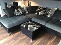 Sofology Napier Corner Suite and Footstool