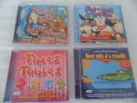 5 x Nursey songs/Times Tables CD's for children aged 2+. New/Unused. No offers-buyer to collect.