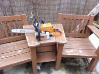 STIHL 021 CHAINSAW WITH ALMOST NEW BAR AND CHAIN