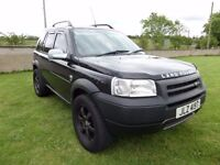 2002 LANDROVER FREELANDER TD4..MOTED TO DECEMBER..POSSIBLE PART EXCHANGE..CREDIT CARDS ACCEPTED