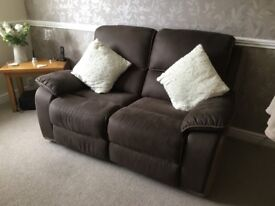 Two seater recliner ex condition only used in spare room