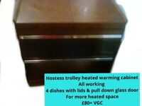 Original Hostess trolley dish and lid in vgc four available