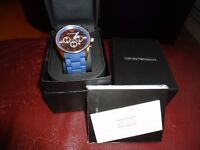 Armani men's watch with box and certificate new