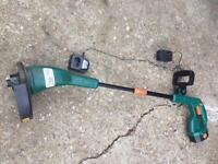 Battery powered grass trimmer