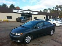 2012 Honda Civic GREAT ON GAS! FINANCE NOW!