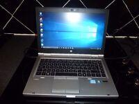 HP Elitebook 8460p Laptop Excellent Condition. Great Spec. Windows 10. Intel Core i5!