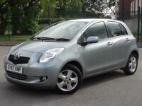 Toyota Yaris 1.3 VVT-i T Spirit 5dr 2007 Petrol Manual 1 OWNER Low Miles 47,000 12 MONTHS MOT-CAT N