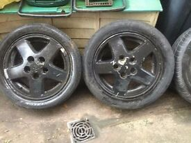 """Toyota mr2 mk2 15"""" alloys with tyres"""