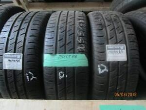 195/55R16 SET OF 4 USED CONTINENTAL RUN FLAT TIRES