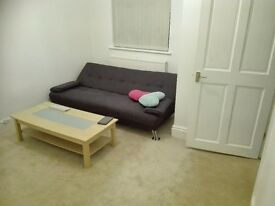 Purple sofa bed