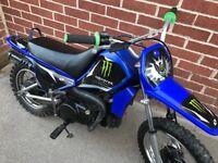 Yamaha pw80 semi auto great learner bike