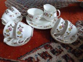 Duchess ,Bone China. 6 X Cups, Saucers ,Milk Jug & Sugar Bowl