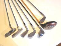 7 Various Golf Clubs