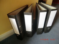 A4 leverarch large ringbinder files.