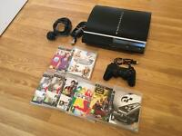 80gb PS3 CONSOLE COMPLETE with 8 GAMES £50 no offers PLAYSTATION 3
