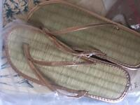 Size S, Sea grass sandals fresh in packet so ever worn