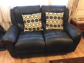 Excellent conditions black leather sofa
