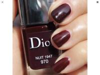 DIOR Vernis NUIT 1947 970 Wine Noir Red Nail Polish Vamp Chic LTD FAB RARE brand new £20
