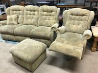 3 Seater Sofa/Recliner Chair/ Footstool (@07519500790)