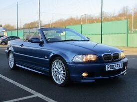 2002 BMW 325 CONVERTBLE SPORT AUTO * TAN LEATHER * M SPORT * PX WELCOME * F.S.H *