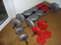 Weights for Sale -DP Fit For Life – ORBATRON – Set of 16 Weights & Bar