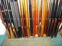 """***** BARGAIN ***** """"VERY"""" cheap CLEARANCE 2 Piece Snooker & Pool Cues & CASES ***** BARGAIN *****"""