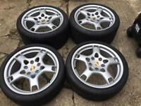 """19"""" Porsche lobster claws with like new Continental tyres"""