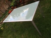 Frosted glass top table