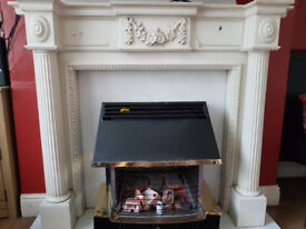 White fireplace suite, excellent condition,FAST SALE WANTED
