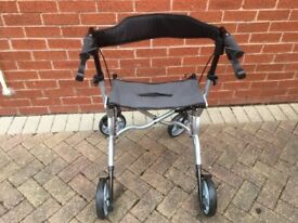 Nearly new, Zoom, lightweight, 4 wheeled mobility walker