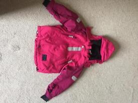 Polarn o pyret. Girls ski jacket. 3-4 yrs. only worn once.