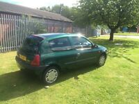 1.2 3 door Clio only 58000 miles 2 owners service history fantastic condition and runner 9 mnth test