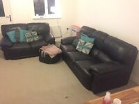2 and 3 seater real leather sofas