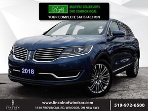 2018 Lincoln MKX **RESERVE, AWD, NAV, V6, PANO ROOF**