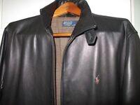 Ralph Lauren Leather Coat Size Large