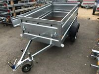 BRAND NEW Faro Pondus car box trailer with double side