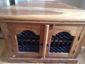Mexican pine corner tv cabinet