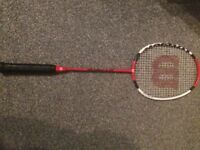 Badminton rackets and covers