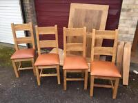 Solid oak table and chairs (delivery available)88