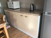 Kitchen utility cabinet with solid worktop, excellent condition,