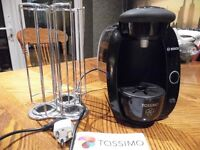 Tassimo Coffee machine and pod holder (with instrucions)